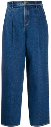 Tory Burch High-Waist Straight Jeans