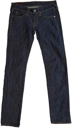 Evisu Blue Cotton - elasthane Jeans