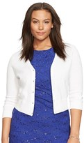 Lauren Ralph Lauren Plus Size Women's Cotton V-Neck Cardigan
