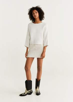 MANGO Dolman-sleeve sweater ecru - XXS-XS - Women