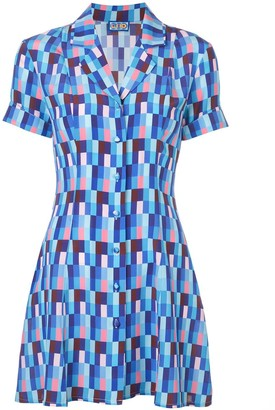 Lhd Printed Mini Shirt Dress