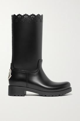 MONCLER GENIUS Simone Rocha Laser-cut Rubber Boots - Black