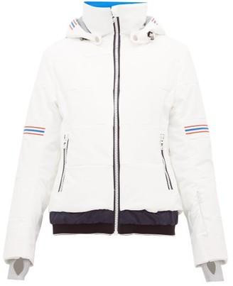 Toni Sailer Antonia Striped Soft Shell Ski Jacket - Womens - White Multi