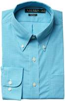 Lauren Ralph Lauren Classic Fit Non Iron Gingham Plaid Button Down Dress Shirt Men's Long Sleeve Button Up