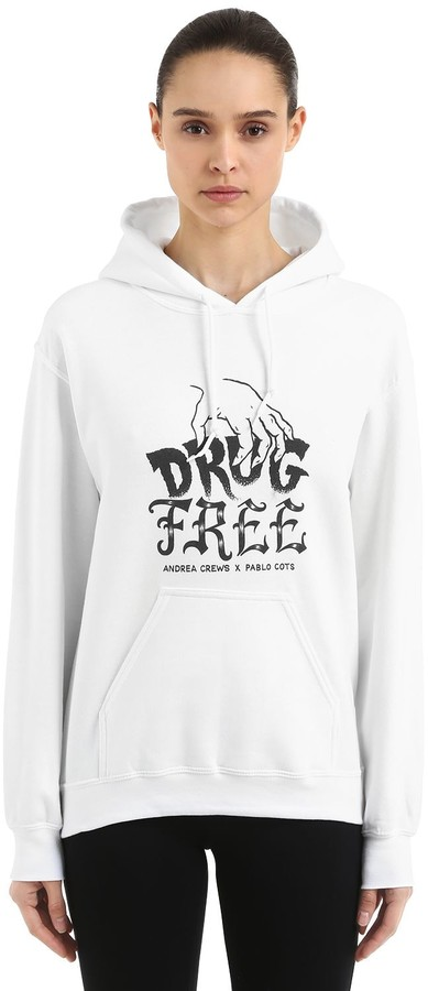 Andrea Crews Pablo Cots Drug Free Hooded Sweatshirt