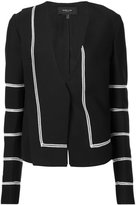 Derek Lam contrasting piping fitted jacket - women - Viscose - 36