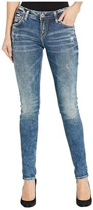 Silver Jeans Co. Mid-Rise Skinny Leg Girlfriend Jeans L27137SJL388 (Indigo) Women's Jeans