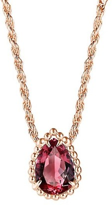 Boucheron Serpent Boheme 18K Rose Gold, Rhodolite Garnet & Diamond Extra-Small Motif Necklace