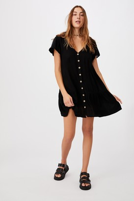 Cotton On Woven Rachael Button Front Mini Dress