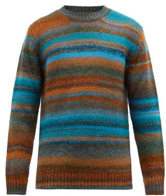 Altea Ombre Stripe Wool Blend Sweater - Mens - Blue Multi
