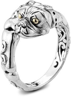 Samuel B. Sterling Silver & 18K Gold Dog Bypass Ring
