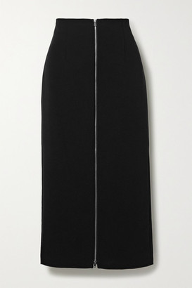 Theory Crepe Midi Skirt - Black