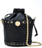 Balmain quilted bucket shoulder bag
