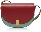 Victoria Beckham Colorblock Leather Nano Half Moon Box Crossbody Bag