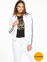 Juicy Couture Microterry Jacket With Racer Stripe
