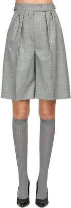 Max Mara Wool Grisaglia Shorts