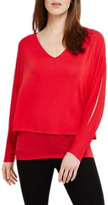 Phase Eight Gisella Double Layer Jumper, Punch Pink