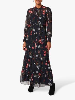 Phase Eight Noeva Floral Print Maxi Dress, Slate