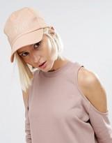 Asos Pink Baseball Cap With Slogan