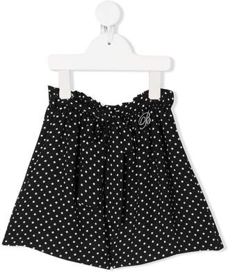 Miss Blumarine Polka-Dot Print Shorts
