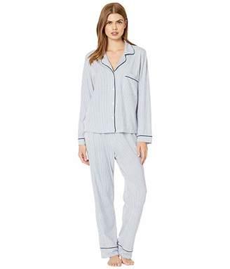 The Cat's Pajamas Simple Stripe Pima Knit Pajama Set
