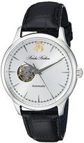 Brooks Brothers Men's SILGF003 Core Collection - Open Heart Analog Display Automatic Self Wind Black Watch
