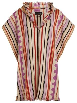 Isabel Marant Stripe Hooded Pilen Poncho