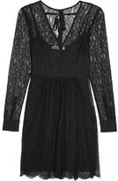 McQ by Alexander McQueen Lace Mini Dress - Black