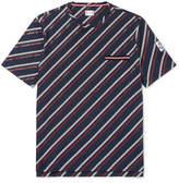 Moncler Gamme Bleu Striped Cotton-jersey T-shirt - Navy