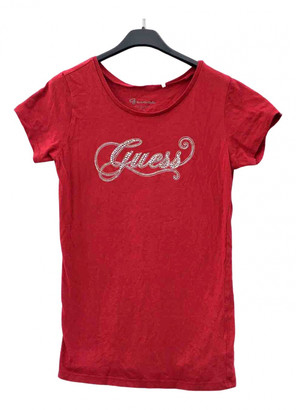 GUESS Red Cotton Top for Women