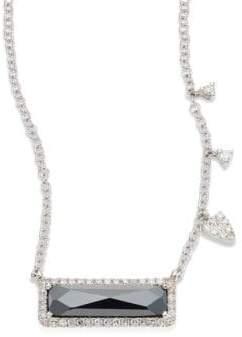 Meira T Diamond, Hematite& 14K White Gold Pendant Necklace