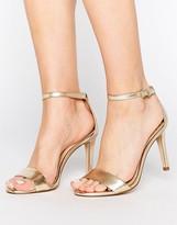 Aldo Camy Gold Metallic Strap Sandals