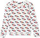 Petit Bateau Womens printed linen jersey sweatshirt