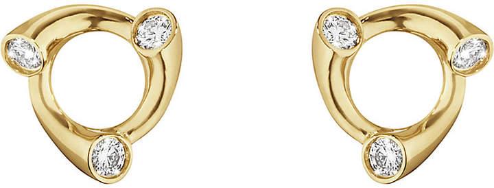 Georg Jensen Magic 18ct gold and diamond earrings
