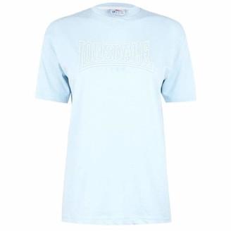 Lonsdale London . Womens Long Line Crew T Shirt Short Sleeves (Sky Blue 12)