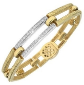 Torrini Beatrice - Gold and Diamond Rectangular Link Bracelet