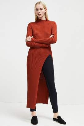 French Connection Raven Rib Knit Long Split Jumper