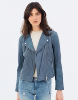 Mng Apple Zip Leather Jacket