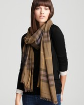 Burberry Giant Check Wool/Silk Gauze Scarf