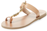 Ancient Greek Sandals Iris Metallic Leather Toe-Loop Sandal