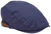John Lewis Linen Flat Cap, Blue