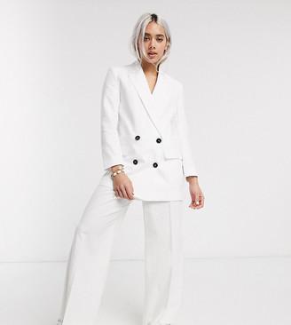 ASOS DESIGN Petite linen slide trousers