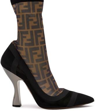 Fendi Colibri FF motif sock boots