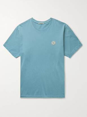 Nudie Jeans Uno Logo-Appliqued Organic Cotton-Jersey T-Shirt