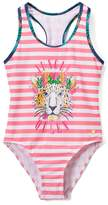 Juicy Couture Pink Stripe 'Jungle Queen' One-Piece - Girls