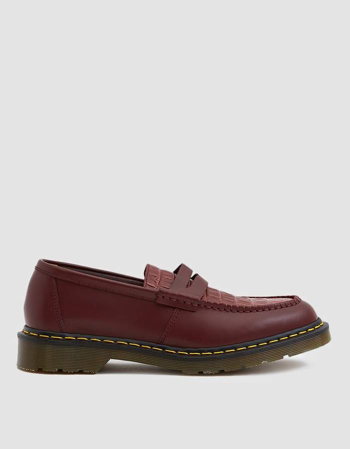 Dr. Martens x Stussy Penton Loafer in Cherry Red