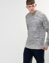 Bellfield Space Dye Loopback Marl Sweatshirt