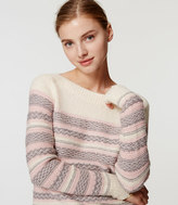 LOFT Fairisle Striped Sweater