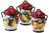 Certified International Botanical Fruit 3-pc. Canister Set