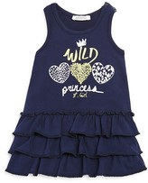 3 Pommes Infant Girls' Wild Princess Ruffled Knit Dress - Sizes 3-24 Months